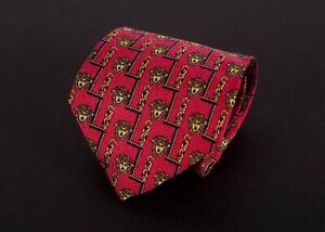 Gianni-Versace-Tie-Red-Medusa-100-Silk-Made-in-Italy-C1228a2
