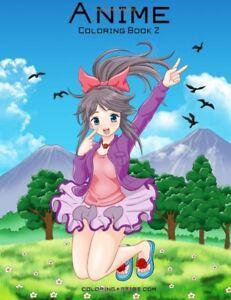 Anime Adult Colouring Book Manga Japan Japanese Girls Kawaii Cute Graphic Comic Ebay