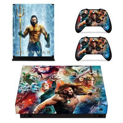 Faceplates, Decals & Stickers Xbox One X Consoles Controllers Movie Dc Aquaman Vinyl Decals Skins Stickers Set 100% Original