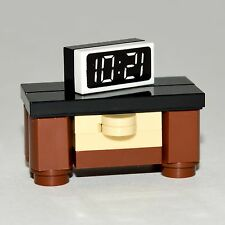 LEGO Furniture: Large Bedroom Nightstand w/ Clock  [minifigure,set,design,kit]