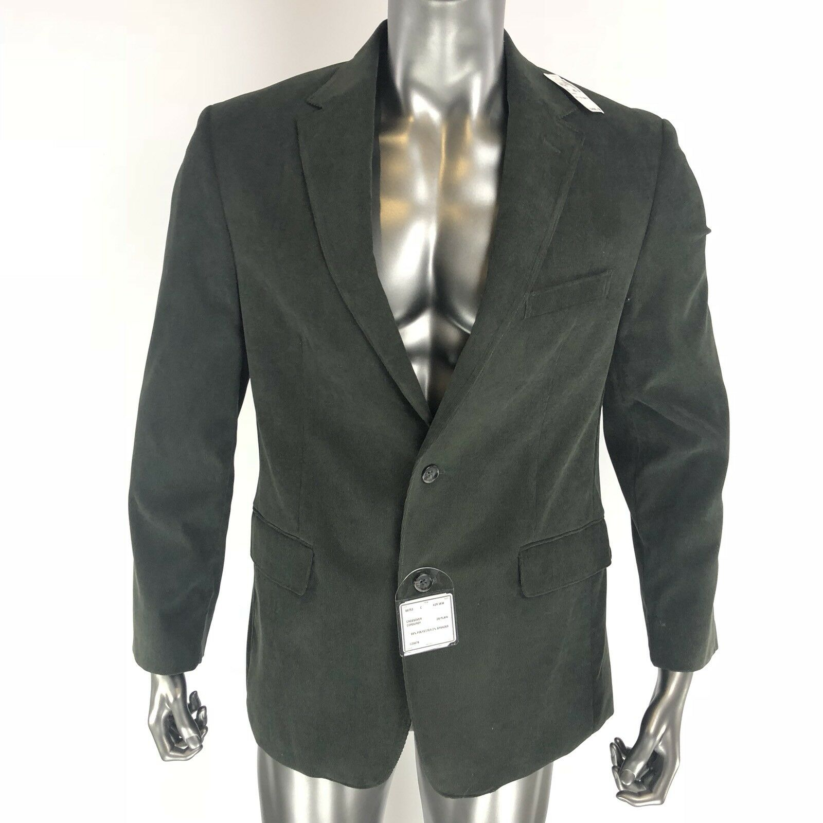New Jos A Bank Collection Blazer Credver Corduroy Olive Size 42R 36W