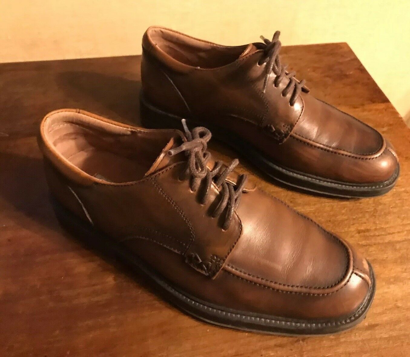 MENS DRESS BOSTONIAN 28676 BROWN LEATHER UPPER OXFORD DRESS MENS SHOES SIZE 7 M 9eee99