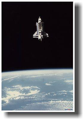 NASA Space Shuttle Columbia in Earth Orbit with Bay Doors Open NEW POSTER