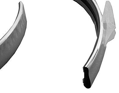 Replacement Bumper Impact Strip for 1995-1997 Lincoln Town Car Front FO1058157