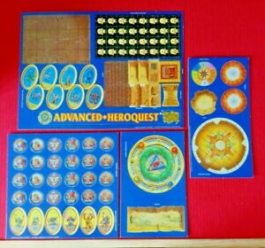 Advanced-Heroquest-Monster-Tiles-Chits-New-On-Card-Unpunched-MB-Board-Spares