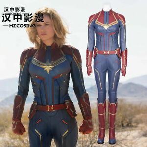 Hzym Captain Marvel Carol Danvers Cosplay Costume Deluxe Leather Outfit Ebay Shop for captain marvel costumes in captain marvel. ebay