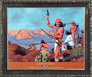 Geronimo-Chricahua-Apache-Native-American-Wall-Art-Decor-Mahogany-Framed-Picture