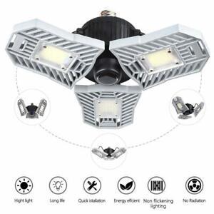 online retailer d105e 01350 Details about 60W Deformable Garage Ceiling Lights Work Shop LED Light  Bulbs Adjustable Panel