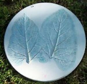 Leaf stepping stone mold plaster concrete reusable mould