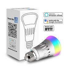 LED Wifi Smart Bulb Dimmable E27 RGB Light For Amazon Alexa Google Home TOP