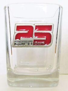 ESPN-CELEBRATING-25-YEARS-RED-PEWTER-EMBLEM-SHORT-SHOT-GLASS