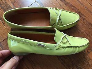 shoes, Ferragamo, size 5.5 B Lime Green