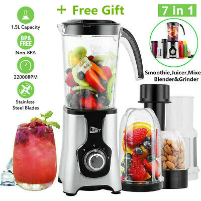 7in1 Food Blender Food Processor Smoothie Maker Fruit Juicer Coffee Grinder 1.5L | eBay