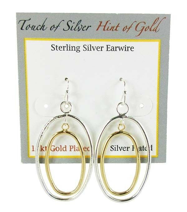 Touch Of Silver Pave Orbital Drop Earrings In 14k Gold‑plated