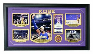 Image Is Loading Kobe Bryant Final Authentic Confetti Frame 8x10