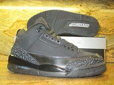 2007 Nike Air Jordan 3 III Retro SZ 9 Black Cat Dark Charcoal OG 136064-002