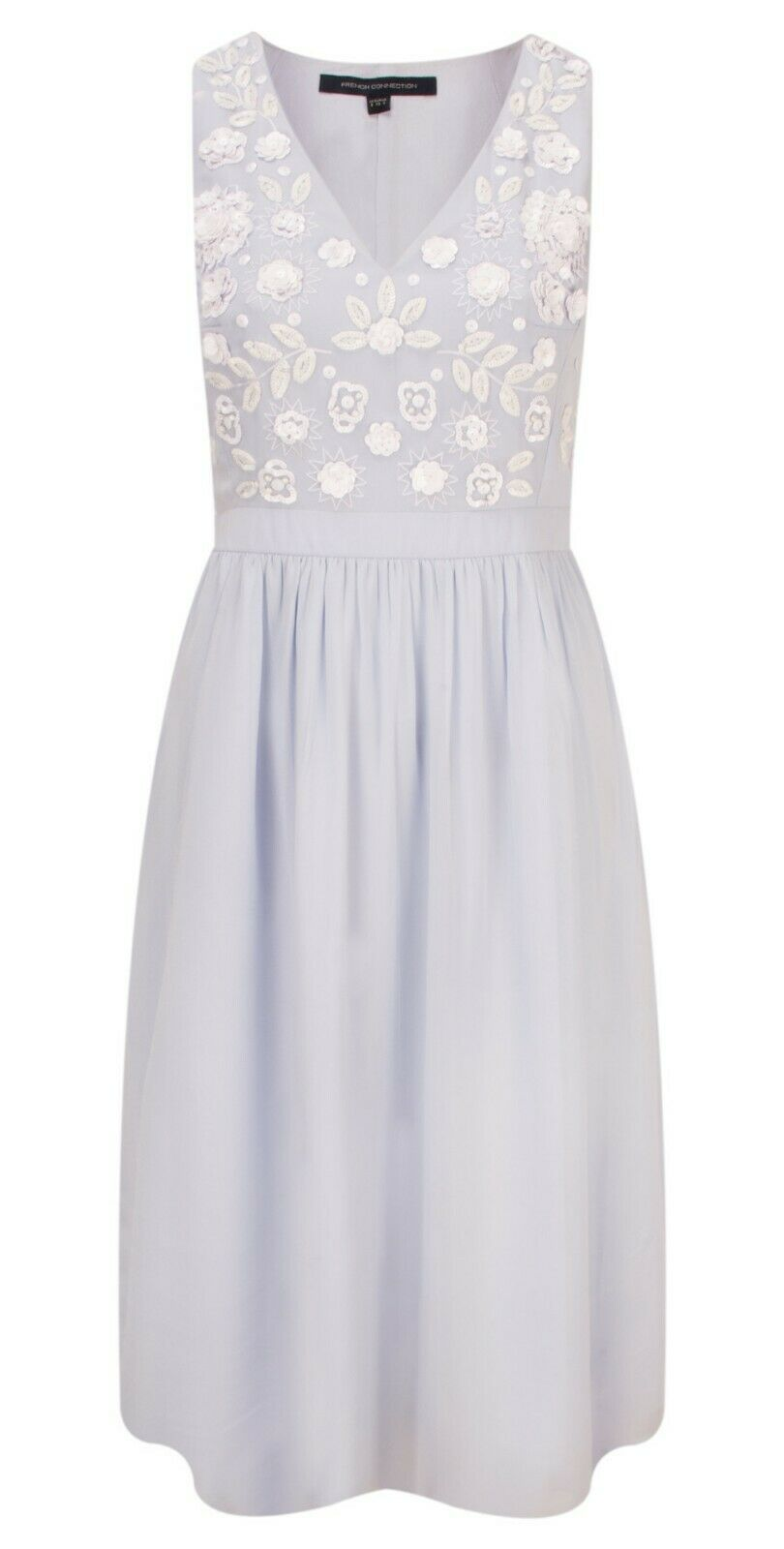 FRENCH FRENCH FRENCH CONNECTION DALIA FLORAL EMBROIDERED DRESS SIZE 16 NEW WITH TAG RRP 6f1d09