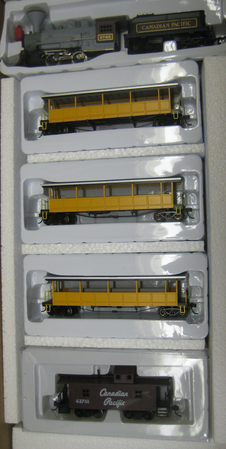 Ho Scenic Tren Set CP 0-4-0 Old Time Loco Canadian Pacific RRCP -385