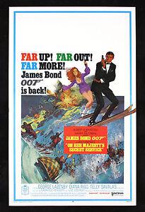ON HER MAJESTYS SECRET SERVICE * JAMES BOND 007 ORIGINAL ...