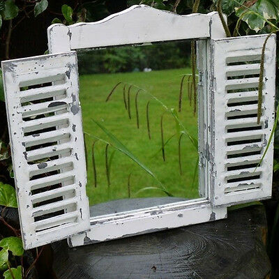 3 Types French Country Indoor/Outdoor Garden Mirror Distressed Look Shabby Chic