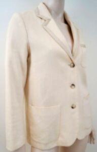 Beige doublé femmes pour Uk8 100 en coton crème formel Blazer coton Aqx0RZ50