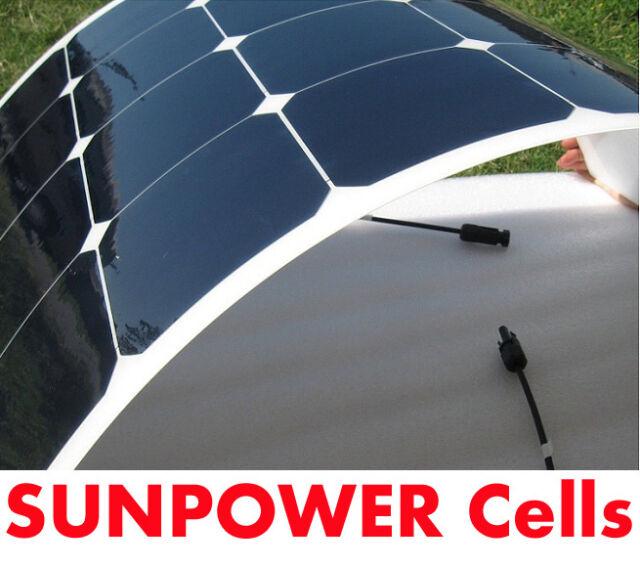 100w Flexible Solar Panel PV Photo-voltaic Boat Marine Caravan Home Flexi