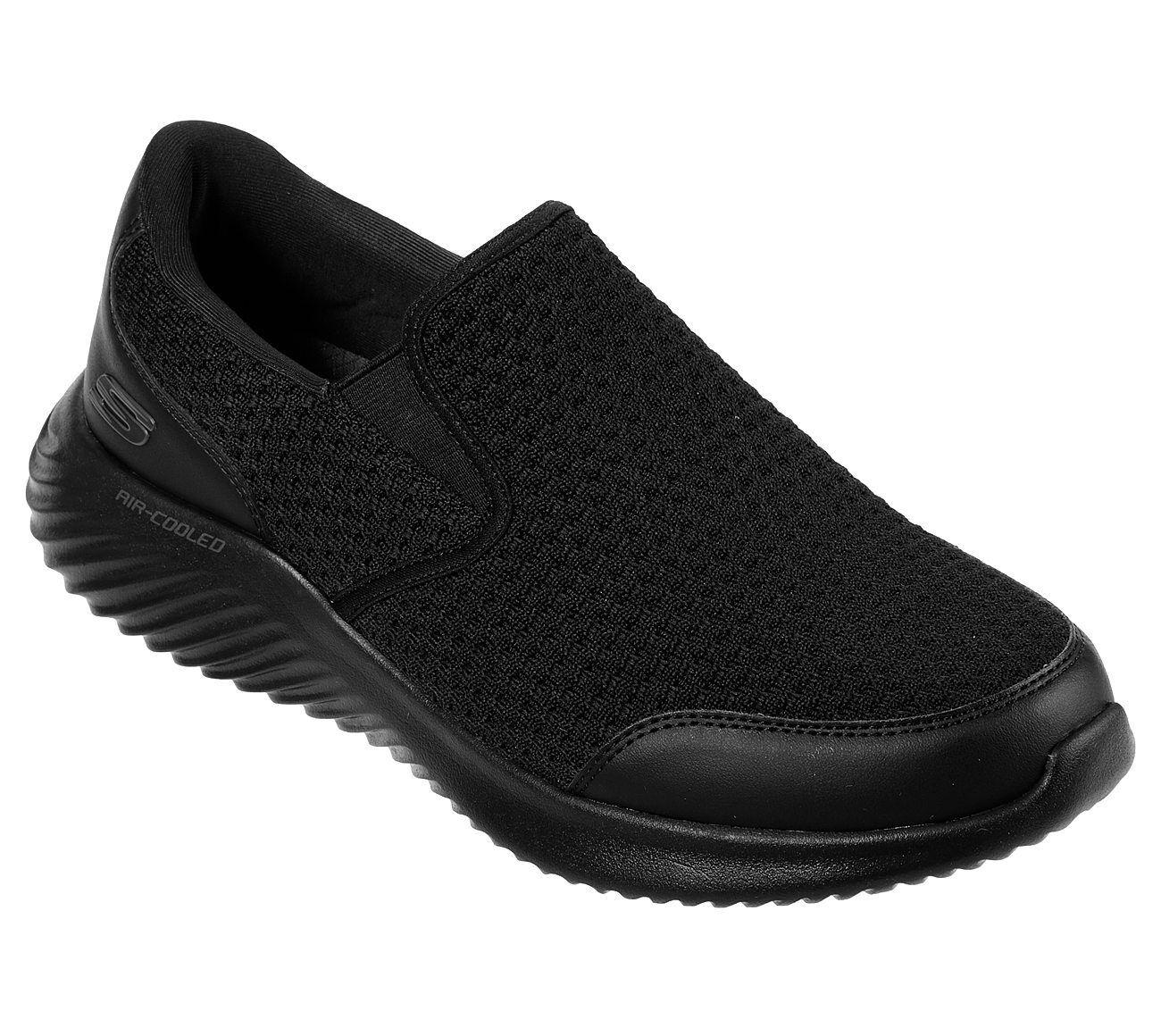Skechers Wide Fit Black shoes Men Memory Foam Comfort Slip On Casual Mesh 52507