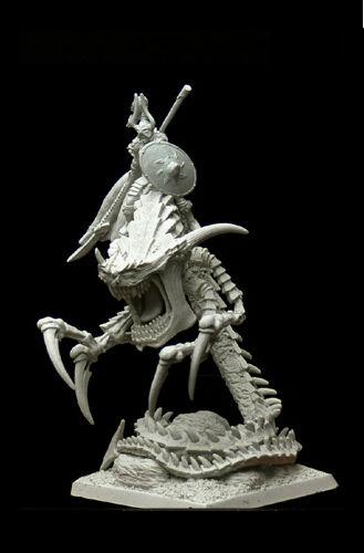 Female Norseman Champion on Hellsnake Demon RPG FOE RARE LE 28mm Mini