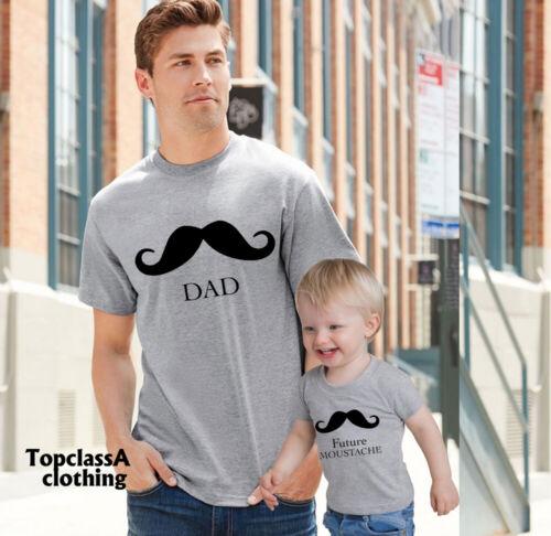 Dad Mustache and Future Mustache Funny Mustache shirt family matching T shirt