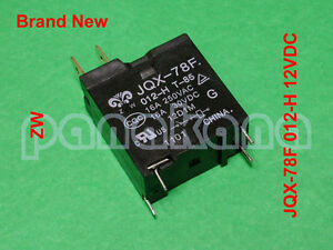 ZW JQX-78F 012-H (JQX-78F 012-1H5, HM78F) 12VDC 4-pin SPST NO Relay