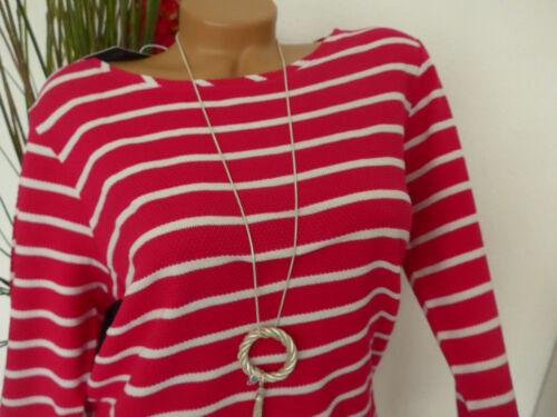302 Pulli Shirt Cecil Damen Streifen pink rosa weiß gestreift