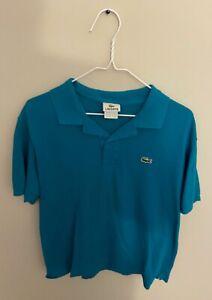 LACOSTE-France-Men-039-s-Cotton-Croc-Polo-Green-Size-5-Large-US-Classic-Pique