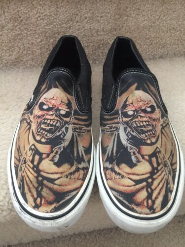 Vintage Vans Iron Maiden Low Slip On Shoes Size Me