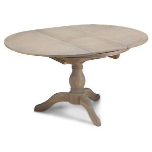 Image Is Loading Welford Oak Furniture Grey Extending Round Circular Dining