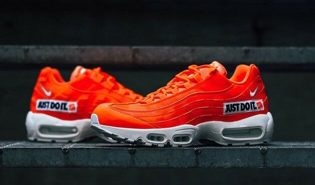 AUTHENTIC NIKE AIR MAX 95 SE JDI Just Do It Orange blanc Blk AV6246 800 homme Taille
