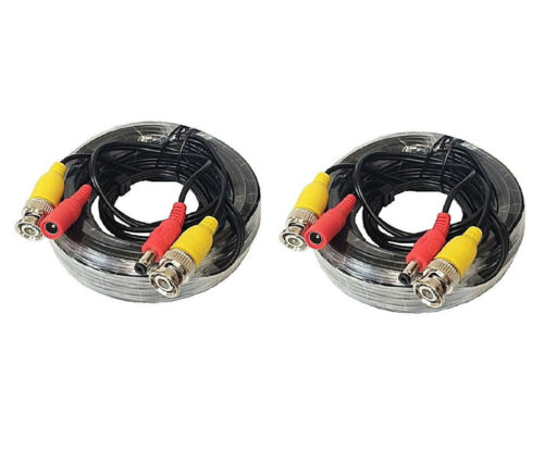 (2) x 25 Feet CCTV Security Camera Siamese Video Power Cable