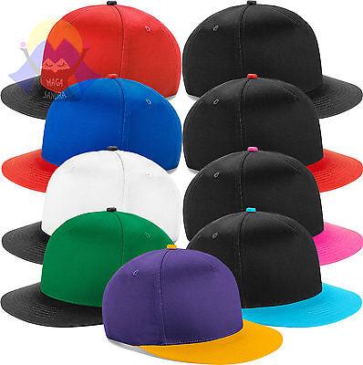 Cappellino Beechfield B615 Bicolore Cappello Rap Snapback Visiera Piatta Retro'