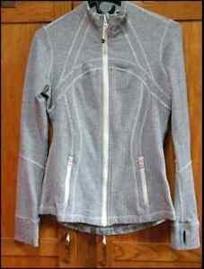 Lululemon Define Jacket Ghost Gray White Herringbone