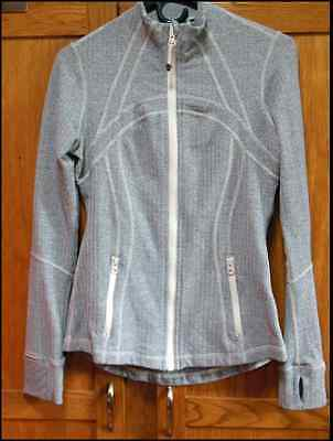 Lululemon Define Jacket Ghost Herringbone Heathered Gray Womens Size 10