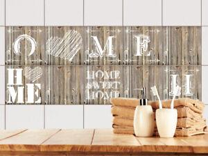 Fliesenaufkleber Küche 15x15 10x10 20x20cm Fliesenfolie Home Holz ...