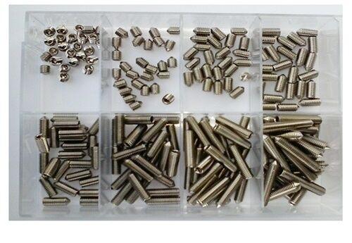 Madenschrauben Sortiment DIN 913 Innensechskant u. Kegelkuppe V2A M3  200 Teile