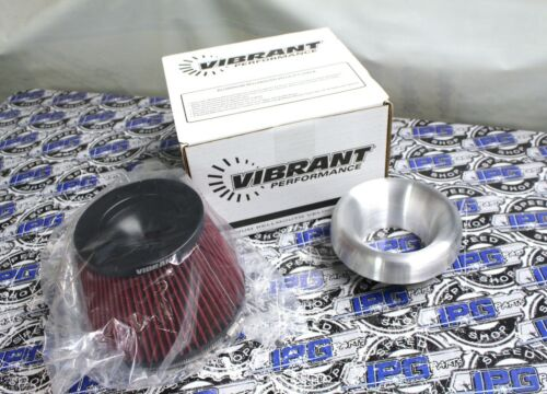 """Vibrant Performance 3.5/"""" Aluminum Bellmouth Velocity Stack /& Air Filter"""