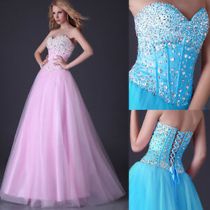 filles-Quinceanera-Robe-de-bal-Concours-soiree-Forma-bal-cocktail-perle-robe