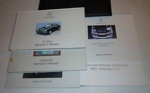 2001 mercedes benz e320 e430 e55 owners manual set 01 e 320 430 55 rh ebay com 2001 Mercedes E430 Sport 2001 mercedes benz e430 owners manual
