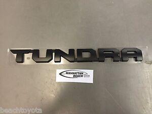 Image is loading Toyota-TUNDRA-TRD-PRO-Black-Painted-Emblem-TUNDRA-