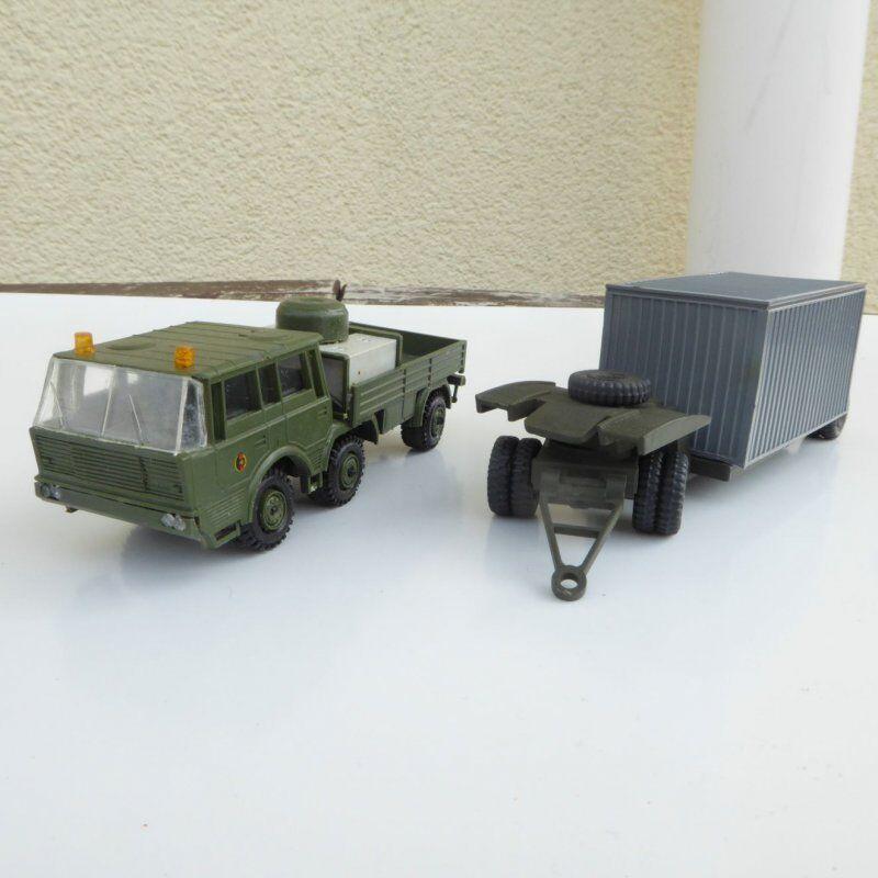SDV Modelo 87010 RK TATRA 813 6 x 6 Con Remolque Nva Coloreee camuflaje verde, H0