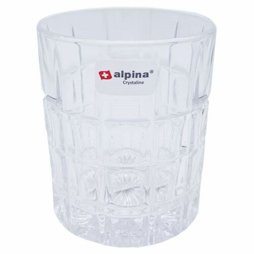 Alpina Crystaline Glas Becher Toronto 320ml Klar Kristall Set Trinken Whiskey
