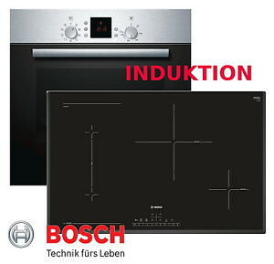 Induktion HERD Herdset BOSCH Autark Backofen Induktion