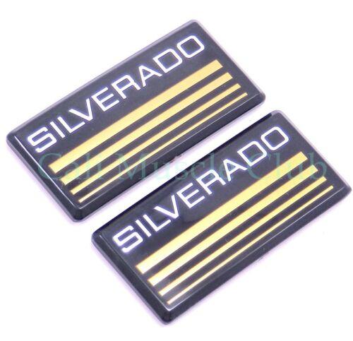 Chevy Silverado Cab emblem NEW 2pc nameplate badge logo roof pillar 84 85 86 C//K
