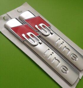 Original-AUDi-S-Line-Schriftzug-8N0853601A-NEU-Zwei-Stueck-A1-A3-A4-A6-A7